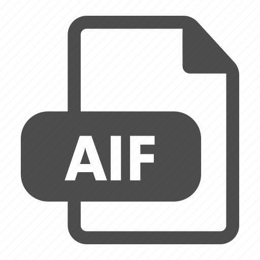 aif, audio, document, extension, file format, media, sound icon