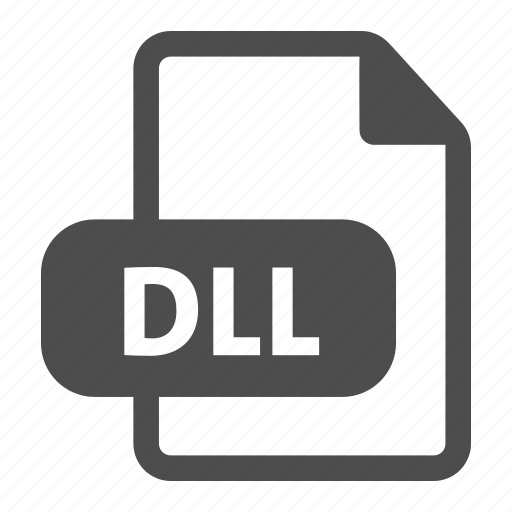 dll, document, extension, file, file format, format icon