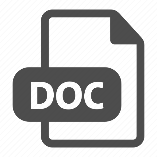 doc, extension, file, format, image, text, word icon