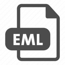 document, eml, extension, file, file format, format, video icon