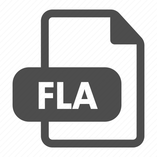 document, extension, file, fla, flash, format icon