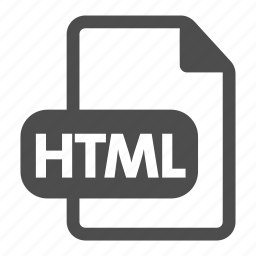 document, extension, file, format, html, internet, page icon