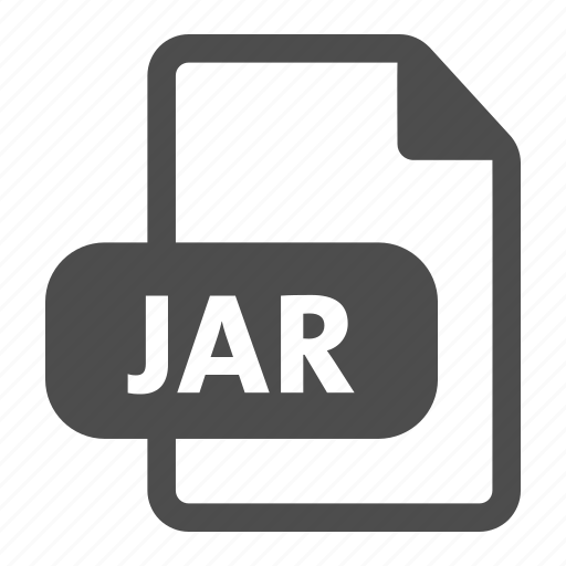 document, extension, file, format, jar icon