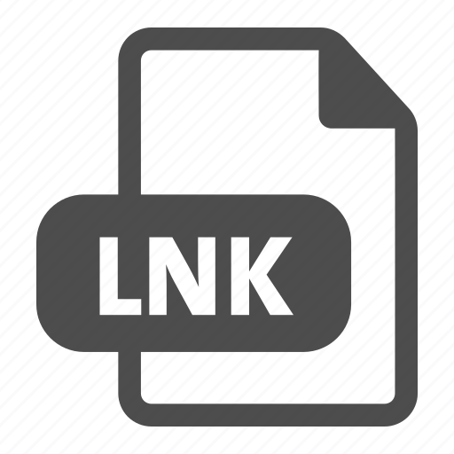 document, extension, file, format, link, lnk icon