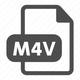 document, extension, file, film, m4v, movie, video icon