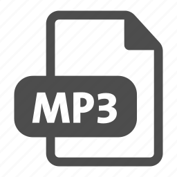 audio, document, extension, file format, mp3, music, sound icon