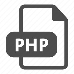 document, extension, file, format, php icon
