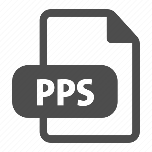 document, extension, file, file format, format, pps icon