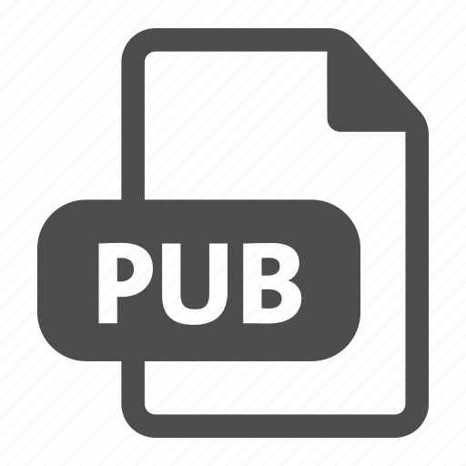 document, extension, file, format, pub, publisher icon