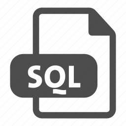 document, extension, file, format, sql, video icon