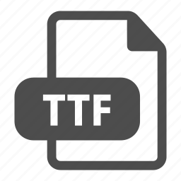 document, extension, file, format, ttf icon