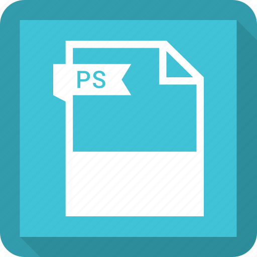 document, extension, file, format, ps icon