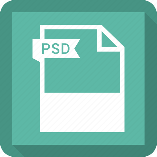 document, extension, file, format, psd icon