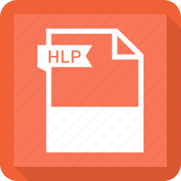 document, extension, format, hlp, paper icon
