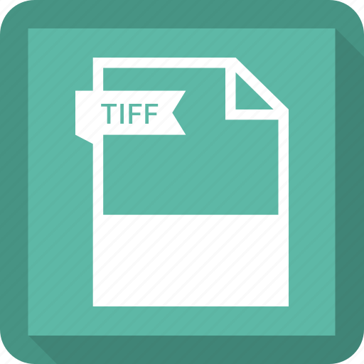 document, extension, format, paper, tiff icon