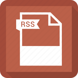 document, extension, format, paper, rss icon