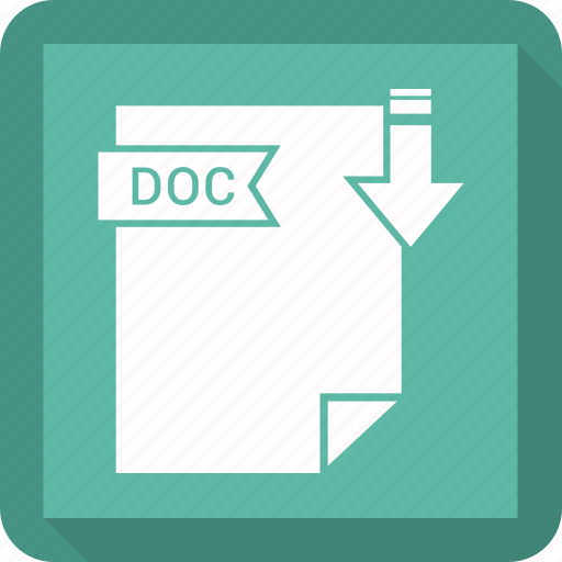 doc, extensiom, file, file format icon