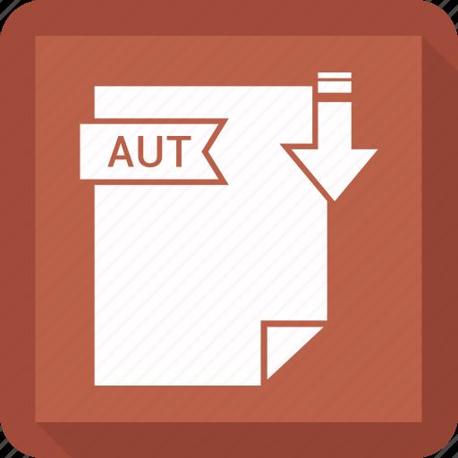 aut, document, extension, format, paper icon