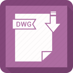 dwg, extensiom, file, file format icon