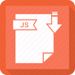 document, extension, format, js, paper icon