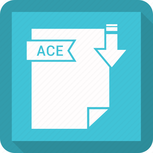 ace, extensiom, file, file format icon