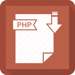 extensiom, file, file format, php icon