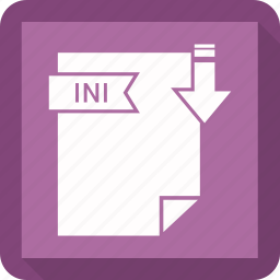 extensiom, file, file format, ini icon