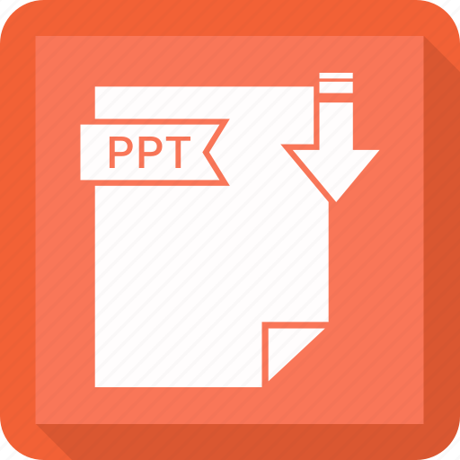 extensiom, file, file format, ppt icon