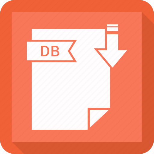 db, extensiom, file, file format icon