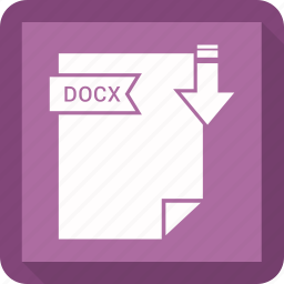 document, docx, extension, format, paper icon