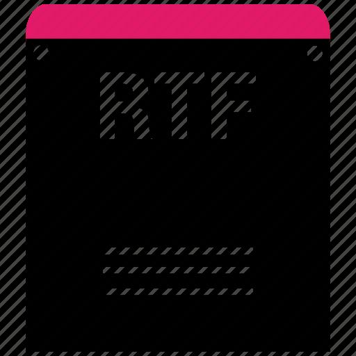 extensiom, file, file format, rtf icon