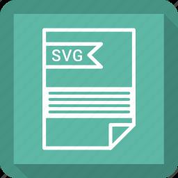 file, format, svg file icon