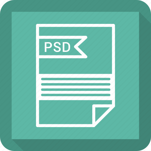 file, format, psd icon