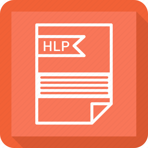 document, extensiom, file, file format, hlp, paper icon