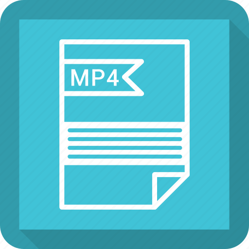 document, extensiom, file, file format, mp4, paper icon