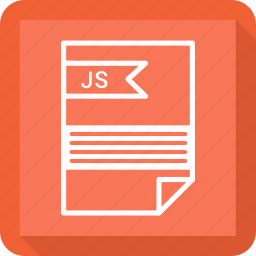 document, extensiom, file, file format, js, paper icon