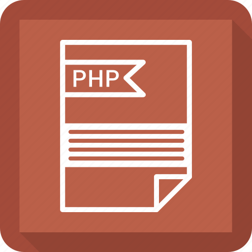 document, extensiom, file, file format, paper, php icon