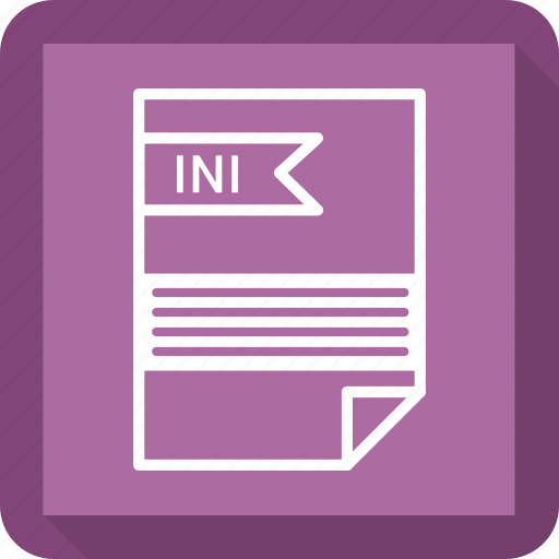 document, extensiom, file, file format, ini, paper icon