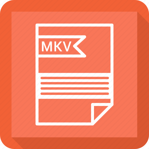 document, extensiom, file, file format, mkv, paper icon