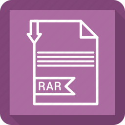 document, extensiom, file, file format, paper, rar icon