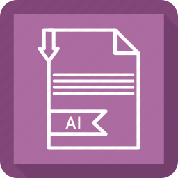 ai, document, extensiom, file, file format, paper icon