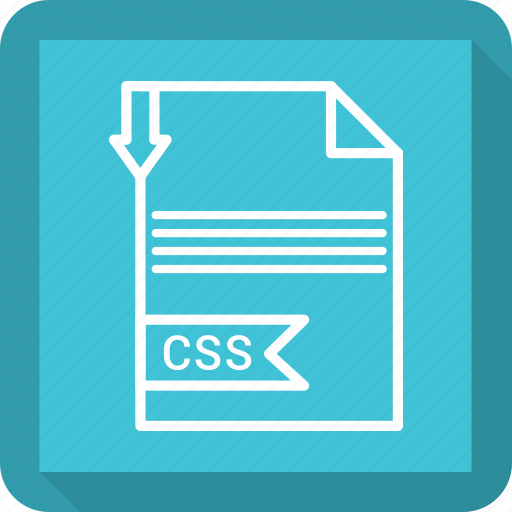 css, document, extensiom, file, file format, paper icon