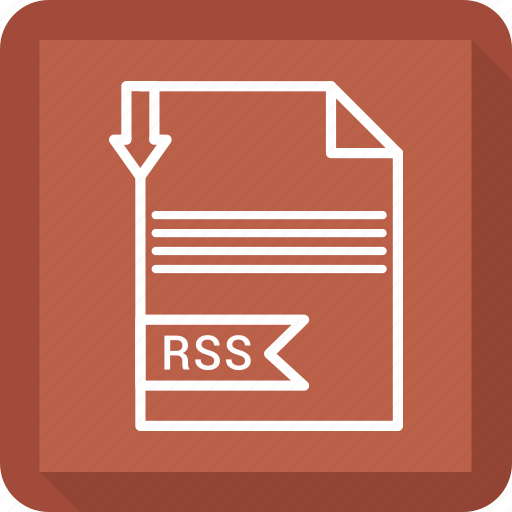 document, extensiom, file, file format, paper, rss icon
