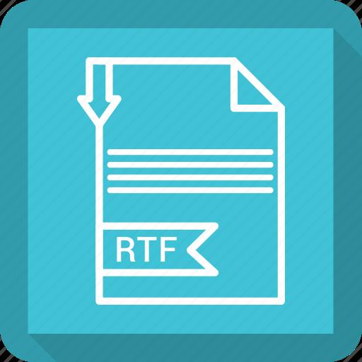 document, extensiom, file, file format, paper, rtf icon