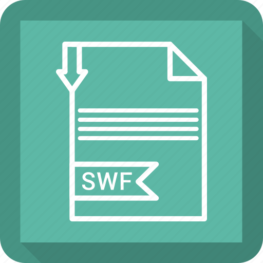 document, extensiom, file, file format, paper, swf icon