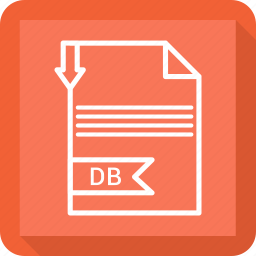 db, document, extensiom, file, file format, paper icon