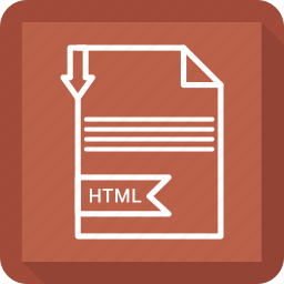 document, extensiom, file, file format, html, paper icon