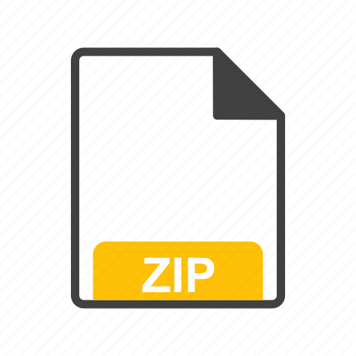 file, file format, zip icon