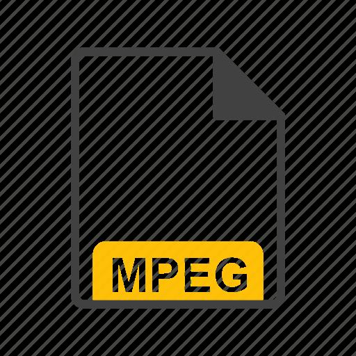file, file format, mpeg icon