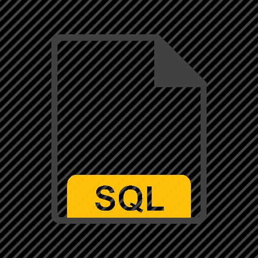 file, file format, sql icon